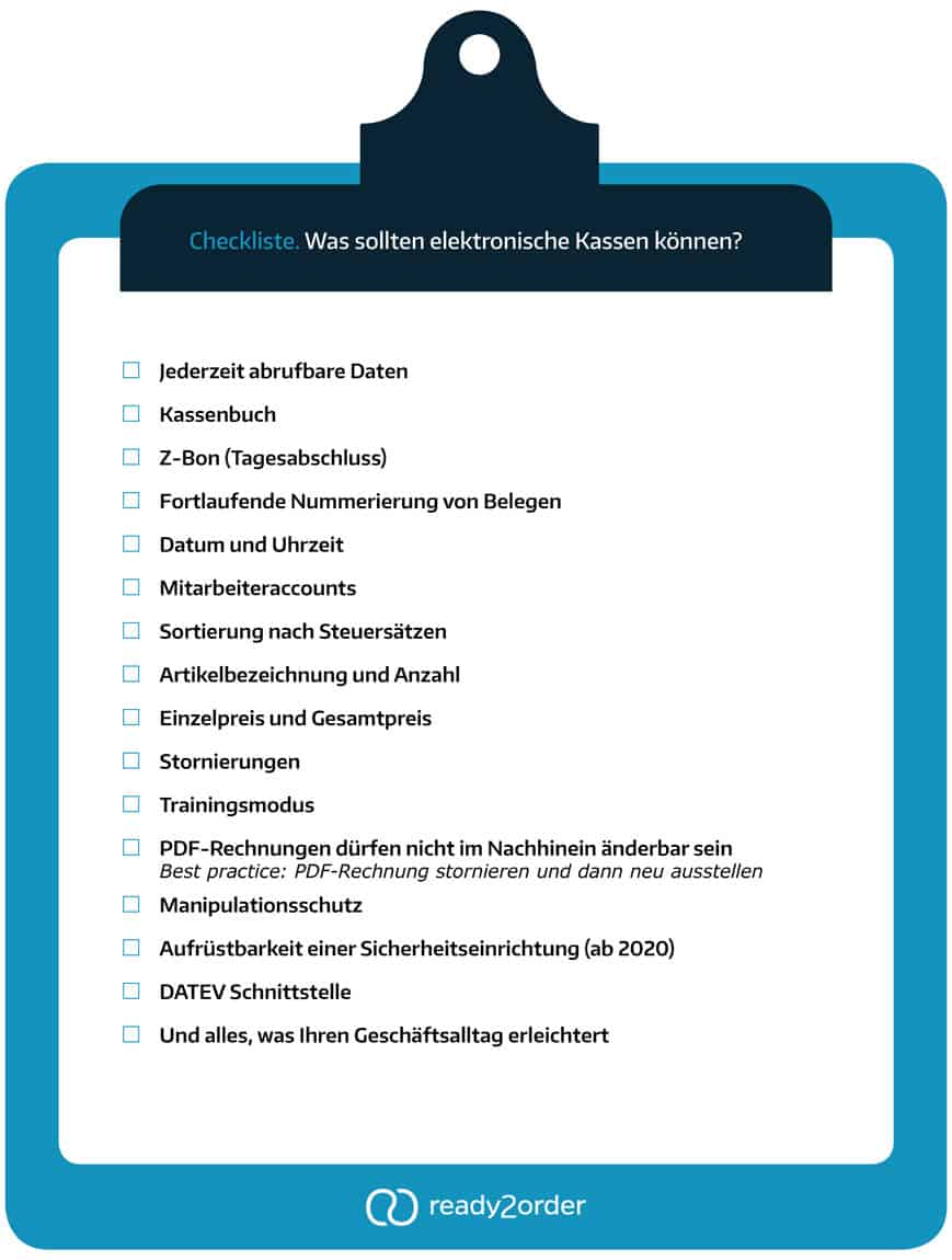 Checkliste zur Ordnungsgemäßen Kassenführung ready2order