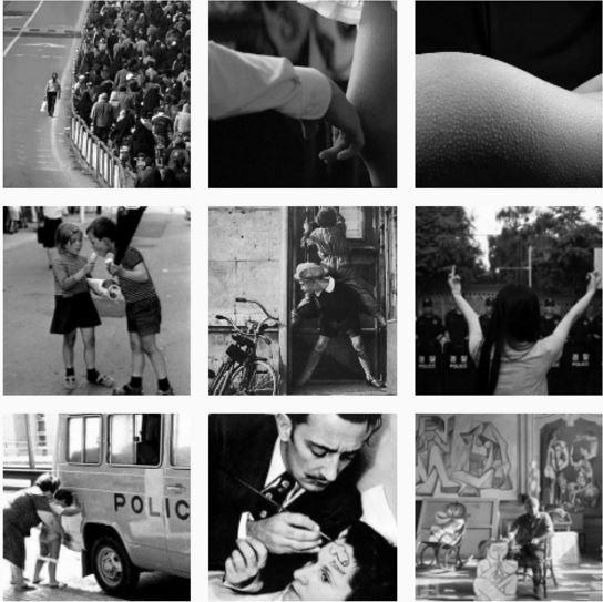Schwarz Weiß Instagram Stil