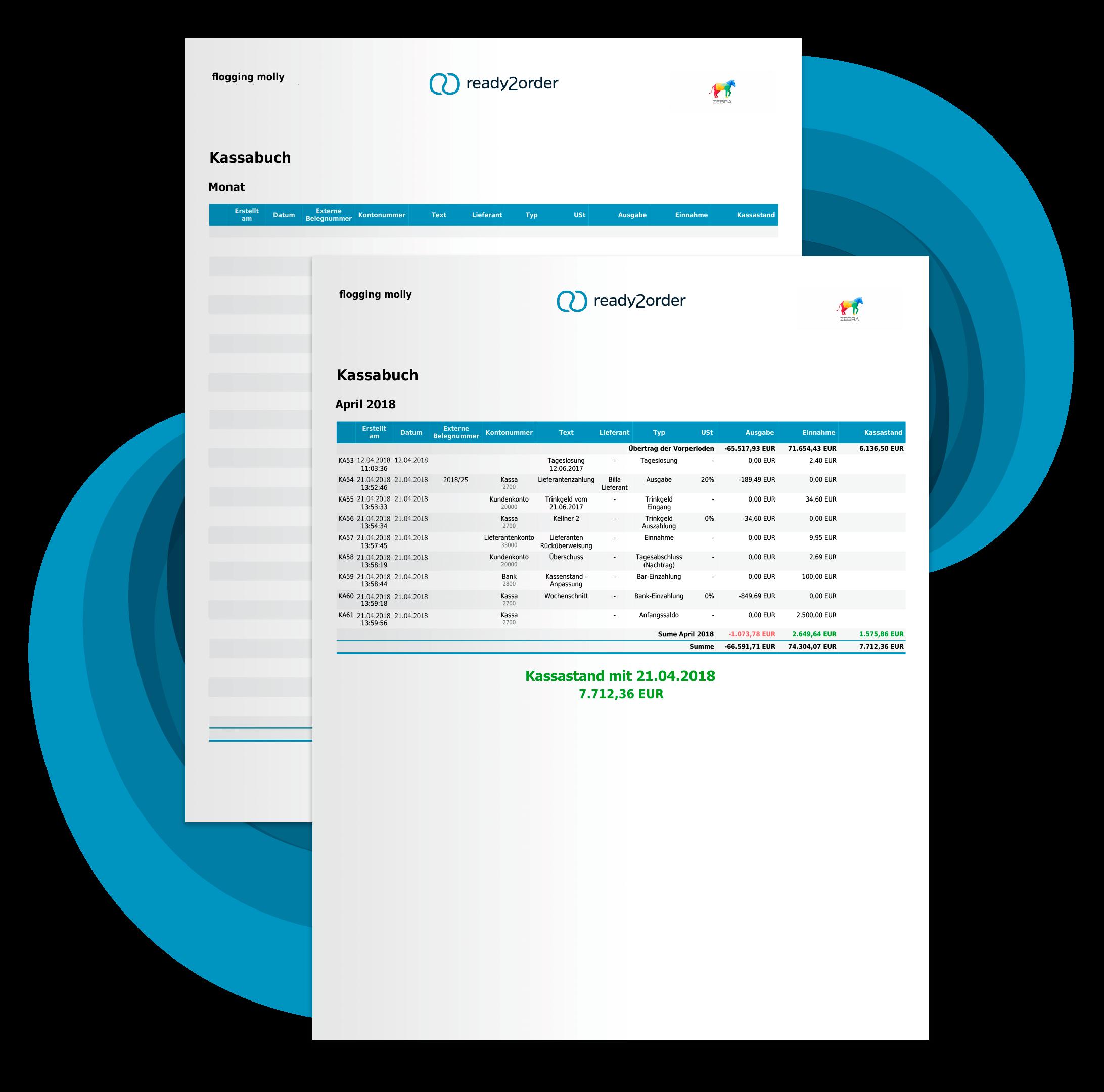 Kassenbuch Vorlage als PDF