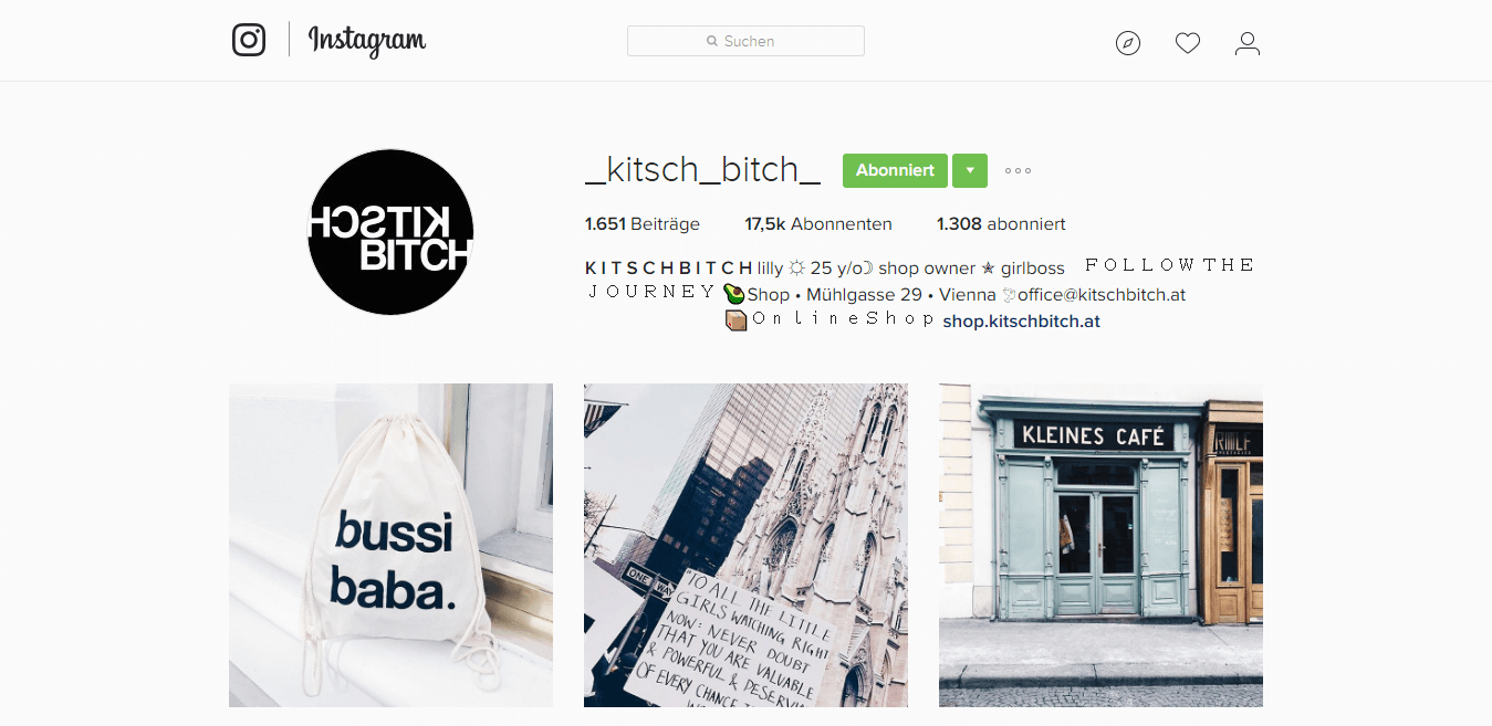 Kitch Bitsch Instagram