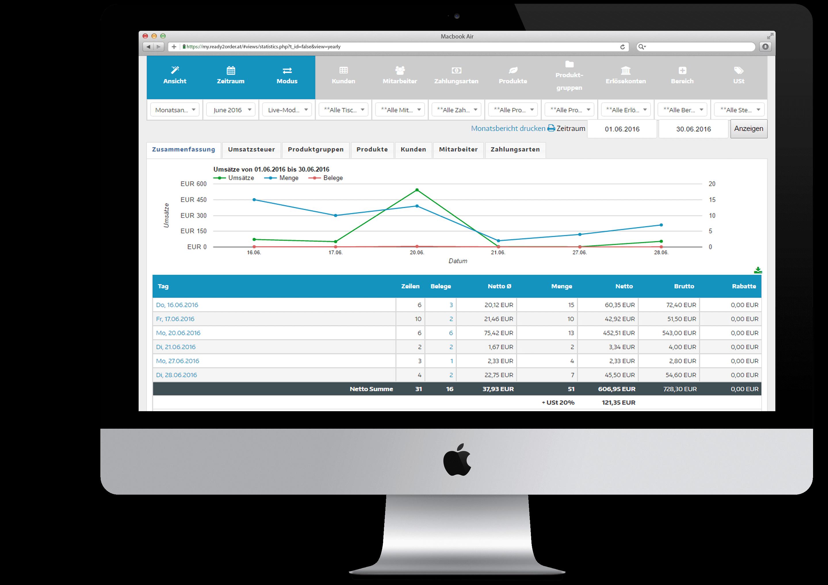 POS Management Software Mockup
