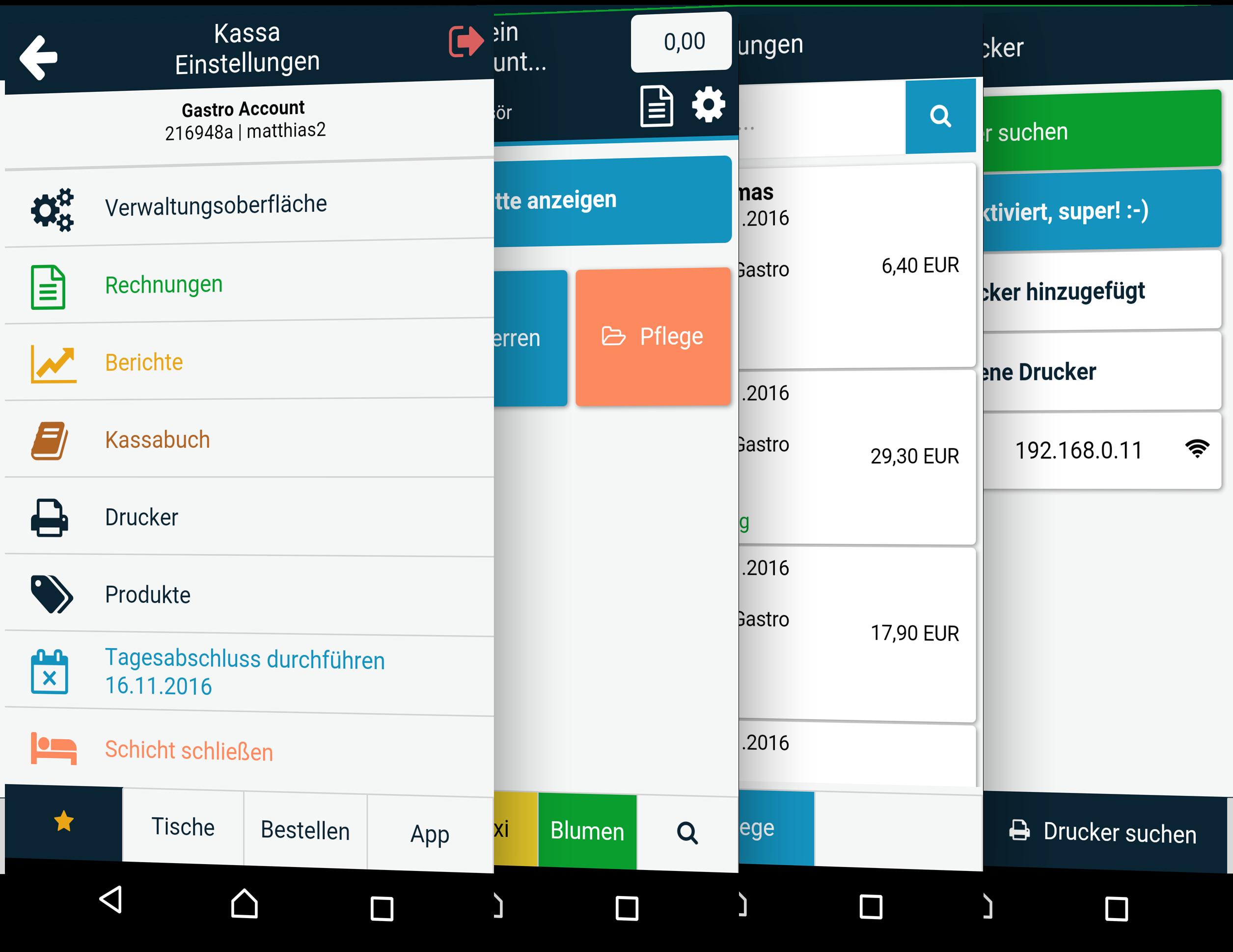 Registrierkasse als App in der Kasse