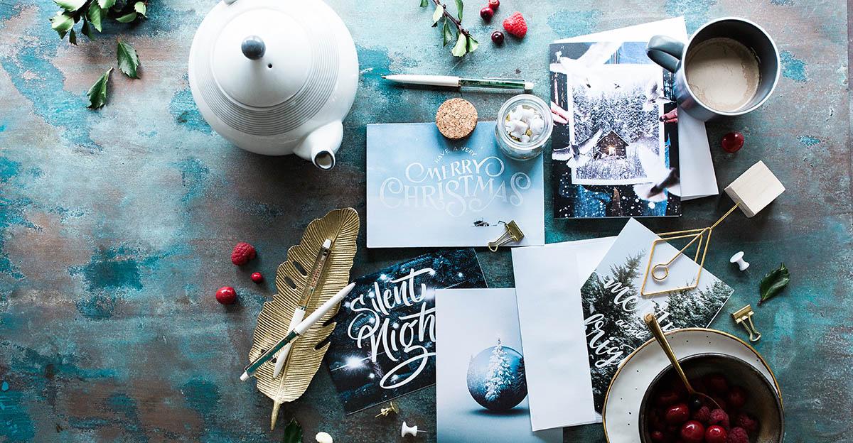 Geschäftliche Weihnachtsgrüße vorbereiten