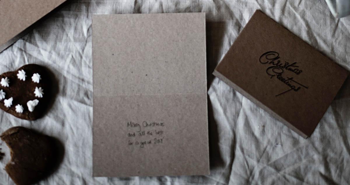 Handschriftliche Weihnachtskarte