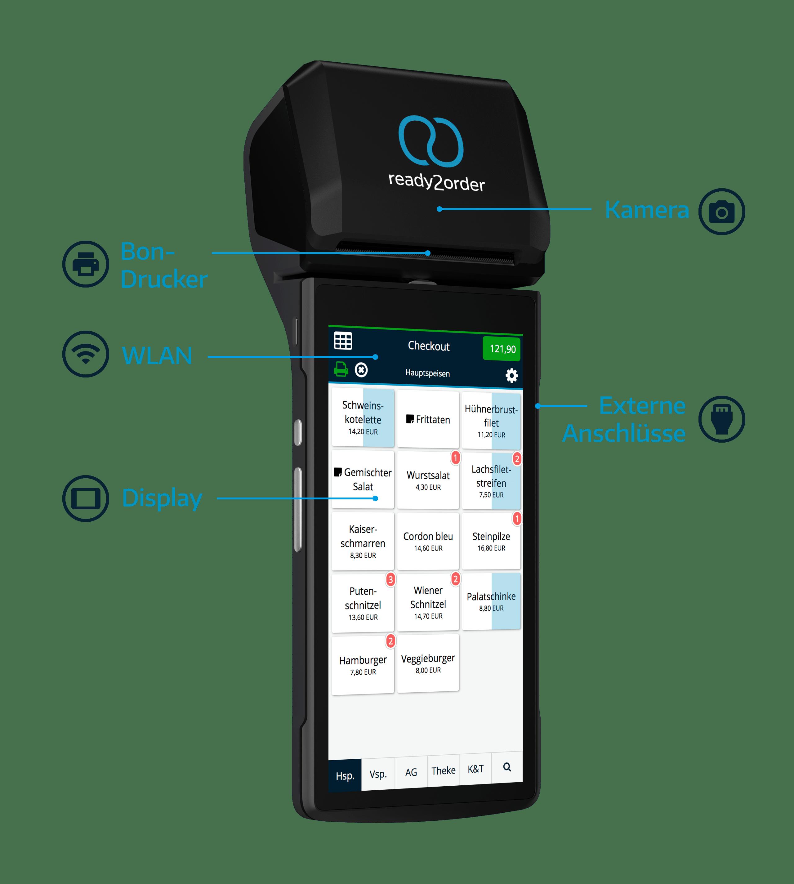 readyP2 Mobile Registrierkasse mit Drucker