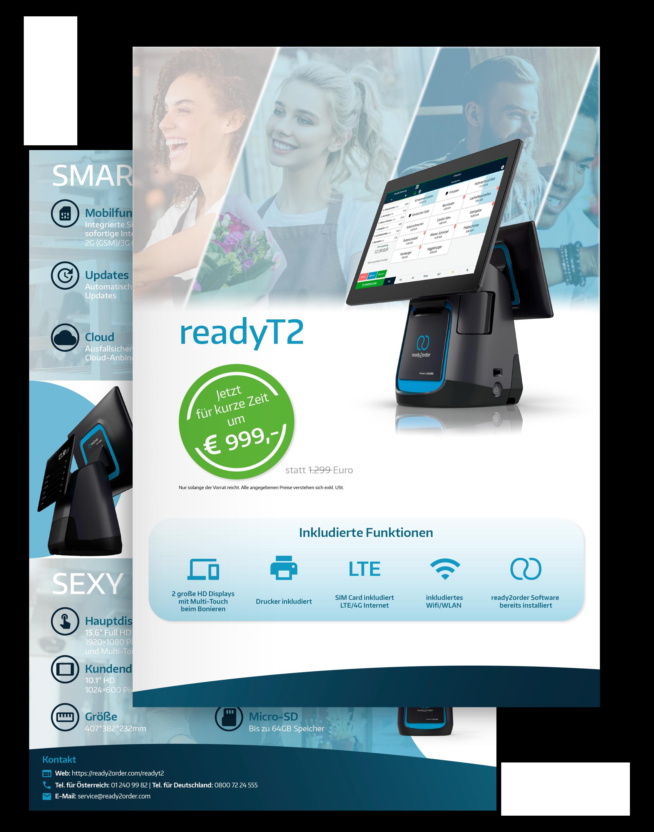 readyT2 Technische Spezifikationen Vorschau