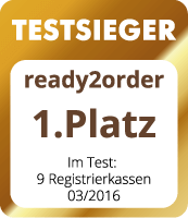 ready2order Testsieger Registrierkassen