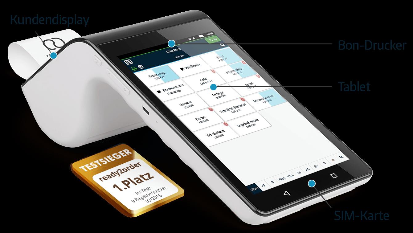All-in-One 4G Mobile Kassensysteme Beschreibung