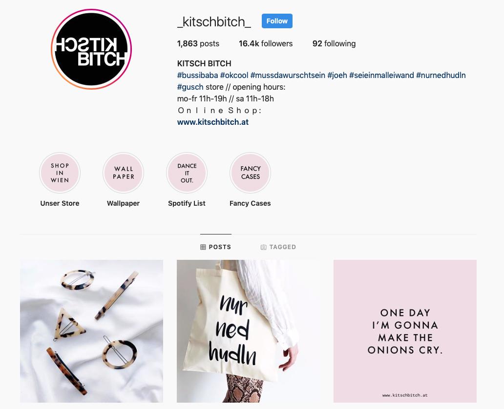 Kitsch Bitch Instagram Channel