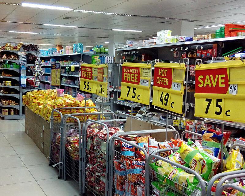 Supermarkt-Sale