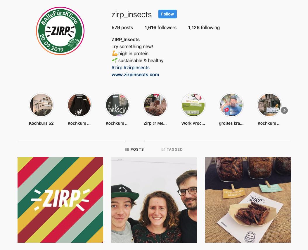 ZIRP Instagram Channel
