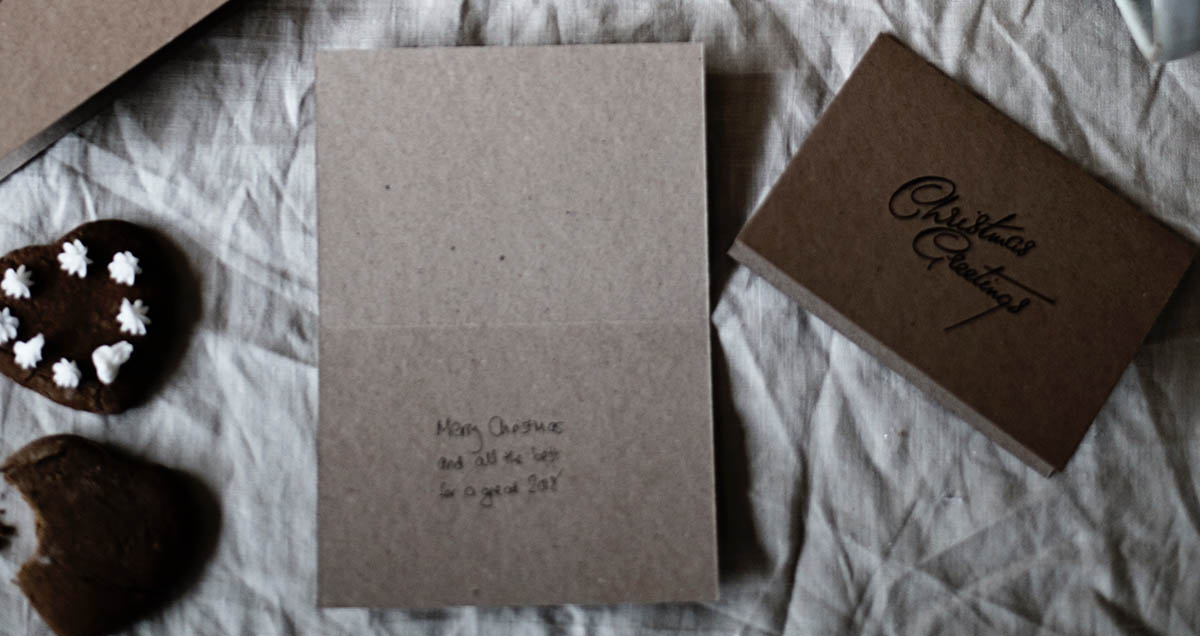 Handschriftliche Weihnachtsgrüße